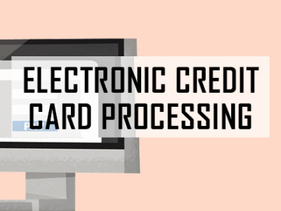 Electronic credit card processing